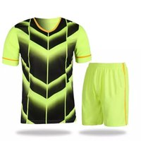 Wholesale new style men s running set adult running wear with shorts men football jerseys set short sleeve soccer jerseys customized name number