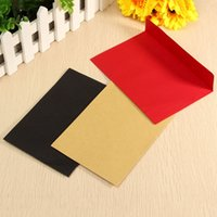 Wholesale Retro Design Blank Stationery Envelopes DIY Multifunction Gift Envelopes for Business Wedding Birthday Party Colors