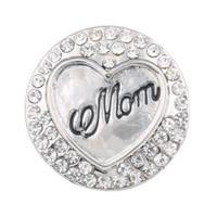 al por mayor botones de cristal de 18 mm-Crystal Metal 18mm mamá botón Snap para la Mujer Brazalete de cuero una dirección Relojes Mujer ZA319