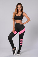 Cheap Sport Clothes for Women 2016 Hot Summer Style 2 Piece Crop Top and Long Pant Sets Casual Jogging Yoga Tracksuit Sport Suits