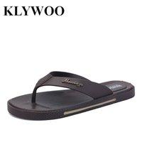 Las sandalias de los Al por mayor-Hombres forman los zapatos causales de los deslizadores de tirón de los hombres de las sandalias del nuevo de la calle del verano de la calle de la sandalia plana plástica plana de los sandalias Brown