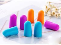 Wholesale Brand new Foam Sponge Earplugs Great for travelling sleeping reduce noise Ear plug randomly color drop shipping
