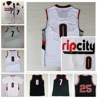 Wholesale Men Rip City Damian Lillard Jersey RipCity Brandon Roy Throwback Jerome Kersey Jerseys Cheap Home Red White Black With Player Name