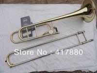 Wholesale Bach BO Senior Sandhi Tenor Trombone Bb Imports Alloy Copper Surface Gold Lacquer Trombone With Black Case