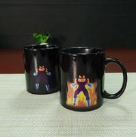 Wholesale Dragon Ball Z Mug SON Goku Mug One Piece Hot Color Changing Cups Heat Reactive Mugs Super Saiyan Cups Coffee Mugs Taza Goku cups HHA1139