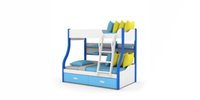 Wholesale factory direct selling functional bed bunkbeds kids bed free paint healthy GS certificated years gurantee pink blue green oak