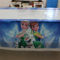 Wholesale Cartoon elsa and anna disposable plastic tablecover cm tablecloth map kids birthday party decoration supplies