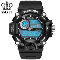 Wholesale 2016 As Seen SMAEL Waterproof Meters Sport Digital Watches Swimming Diving Wristwatch New Brand Analog Men Watch LED montre hommeWS1385