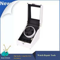 Wholesale Ultra Luxury Modes German Motor Watch Winder White Color Wooden Black PU Leater Inside automatic Watch Winder