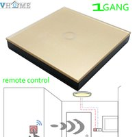 automation control panel - Vhome Smart Home MHZ Golden Glass panel Switch shape remote control EU Wall Light Touch Switch Home Automation Accessories
