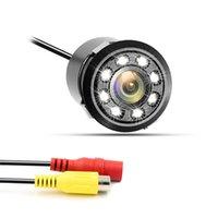 Gran angular de perforación HD CCD cámara de coche Cámara de aparcamiento Cámara RearView cámara con 8 luces IR impermeable envío gratis