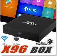 Vente en gros X96 Android TV box Amlogic S905X Quad Core Android 6.0 4K Marshmallow RAM 1 Go 2 Go ROM 8 Go 16 Go Wifi HDMI DLNA avec boîtier de vente au détail