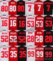 Wholesale Discount Mens Football Jerseys Rice Reid Montana Hyde Kaepernick Jerseys Cheap football jersey