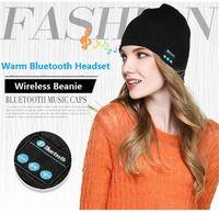 active speakers white - NEW Soft Warm men women Beanie Bluetooth Music Hat Cap with Stereo Headphone Headset Speaker Wireless Mic Hands free christmas gift b1072