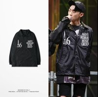 active patterns - Europe Japanese New Kanye west Jacket Fashion Hip Hop Men Jacket Wind Jacket AOMG kanye coat men zipper casual jacket jaqueta