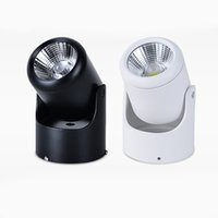 Wholesale KEVDA LED Spotlights Down Lights Dimmable Painted Surface Mounted W COB AC85 V LED Ceiling Lights Spotlights with Knob Switch