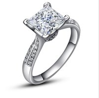 Wholesale Luxury Pure Silver Wedding Rings ChiBrand Jewelry Zirconia Diamond Sterling Silver Engagement Rings for Women