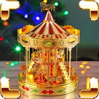 Wholesale New Arrival Gift Carrousel D Model Merry Go Around Alloy DIY Assemble Toys Game Mini Whirligig Building Kit Educational Piece Up