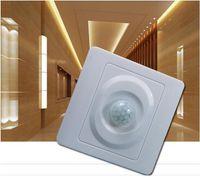 Wholesale 2pcs mm square led light and energy saving light or Incandescent lights PC sensor switch