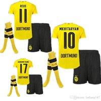 best men s coats - Best Quality Dortmund home and away jerseys adult Coat pants socks REUS GUNDOGAN PULISC Borussia Dortmund jersey