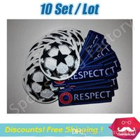 Wholesale League patch RESPECT stars ball soccer patch soccer Badges Set