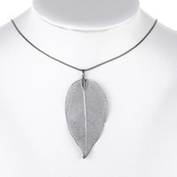 Pendant Necklaces Mexican Women's FedEx Express Unique Women Fashion Jewelry Leaves Leaf Sweater Pendant Long Chain Necklace for mon girlfriend birthday gift