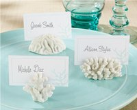 beach theme place cards - 102pcs sets Wedding Favors And Gifts quot seven Seas quot Coral Place Card Photo Holder Beach Theme Wedding Frame