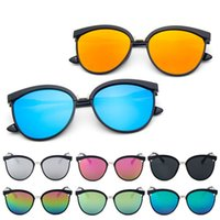 Marcos al por mayor España-Venta al por mayor-2017 hombres de la marca de fábrica del diseñador hombres unisex SunGlasses Oculos de sol femenino Superstar redonda marco de la computadora Steampunk vendimia gafas de sol