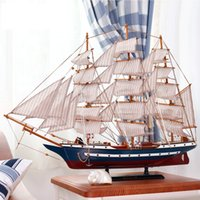 Wholesale Creative Mediterranean sailing ship sailing craft model of the unitede stated solid wood ship sailing ship constitution