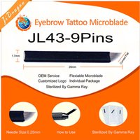 Wholesale Curved Flat Pins Microblading Needle size mm Stock Fast delivery A OEM Service Price