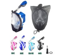 Wholesale 2016 New Arrival Underwater Scuba mergulho Anti Fog Full Face Diving Mask Snorkeling Set and Snorkel