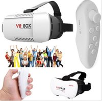 Wholesale brand new VR Headset Virtual Reality VR BOX Goggles D Glasses Google Cardboard Remote NEW