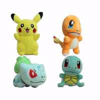 Wholesale 4pcs set CM Poke GO Ball Plush toy Pokeball Pikachu Bulbasaur Squirtle Charmander Gift Figure Doll