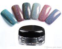 al por mayor clavo del paillette del arte-Maquillaje Spangle Glitter Nail Art Paillette Acrílico Uv Polvo Polaco Nail Tips Belleza Metal Manix Accesorios Diy