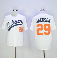 Men best baseball universities - Mens Bo Jackson Baseball Jersey Auburn Tigers Throwback VINTAGE University Baseball Jersey Best Quality White Fast Shipping