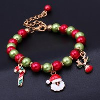 bead gift items - 2016 New Christmas Bracelets Hot Selling Christmas Gift Factory Directly Selling Multi Colors Beads Bracelets Party Items
