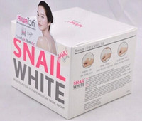 Wholesale New arrival Free drop shipping g snail white tender skin SNAIL mucus whitening repair acne removing blain cream