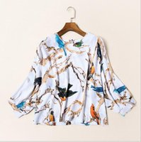 bats bird - The new Europe and the United States women s spring Fashion joker bird printing bats in a shirt