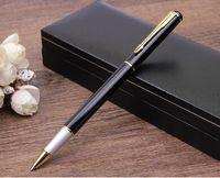 Wholesale Luxury Gel Pen Matte Black Pens Silver Clip high Quality office business pen wedding Ceremony gift Caneta Escolar WJ0168