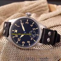 Livraison gratuite New Luxury High Quality Big Pilot's Heritage 44mm Montre mécanique automatique pour hommes IW510401 Bracelet en cuir