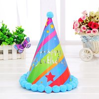 assorted coloured paper - Cute Paper Ball Beauty Party Celebration Hats Birthday Festive Party Decorations Supplies For Adult Assorted Colour