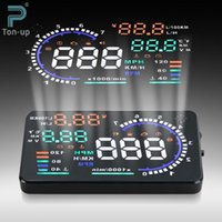 Wholesale 2016 Promotion quot A8 Car Hud Head Up Display Projector Digital Light Self adaptive Speeding Warning Fuel Obd Ii And Eobd Speedometers