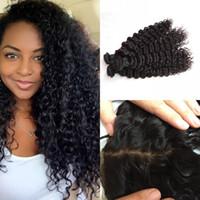 beyonce weave hair - Beyonce curl silk base frontal with human hair bundles virgin peruvian deep wave hair wefts inch