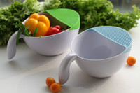 Wholesale Wash Basket Wash Rice Device Plastic Rice Sieve Anti Overflow Handle Lek Kitchen Supplies Multi Color Home Daily Household Products Thicker