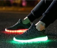 Lace-Up Unisex Spring and Fall Hot Melbourne Shuffle Dance 7 LED Light Rio Olympic Unisex Lace Up Luminous Shoes Sports Sneaker Casual Skateboard Ghost dancing Cheap