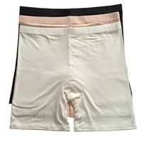 Cómodo más tamaño de las señoras de bambú boxeador pantalones cortos de verano ligero pantalones vaqueros Boyshort ropa interior para las mujeres 24-40 pulgadas xxl 4xl