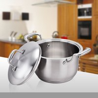 Wholesale 24cm Classic Stainless Steel Safe Casserole with Stainless Steel Lid Cookware Ears Soup Pan