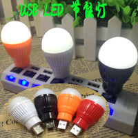 Wholesale Nightlight Apple millet Samsung USB mobile power charging head lamp energy saving bulb LED flashlight