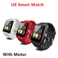 Wholesale Bluetooth Smartwatch U8 U Watch Smart Watch Wrist Watches for iPhone s Samsung Galaxy S7 Note HTC Android Phone Smartphones