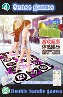 HOT 2017 new KL Inglés menú 11 mm de espesor único pad de danza doble Pad de no-deslizamiento Pad yoga dos juegos de control remoto controlador para PC TV